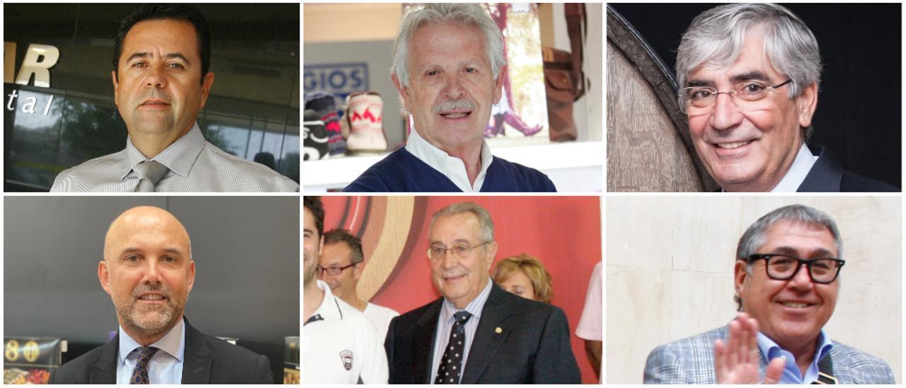 Juan Alcaraz, José Navarro, Luis Miñano, Jose Manuel Sirvent, Pedro Giménez Ganga y Ramón Salvador.