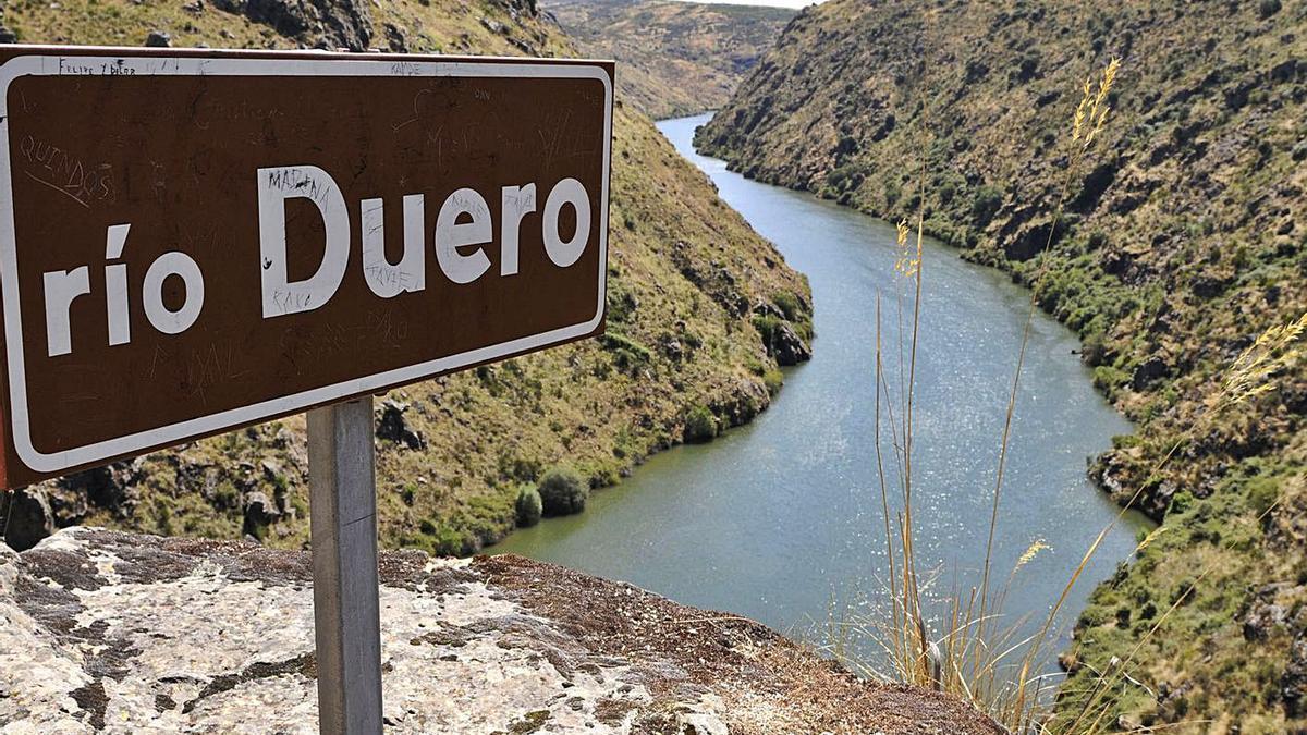Parque Natural de Arribes del Duero, que divide a España y Portugal en la provincia de Zamora.