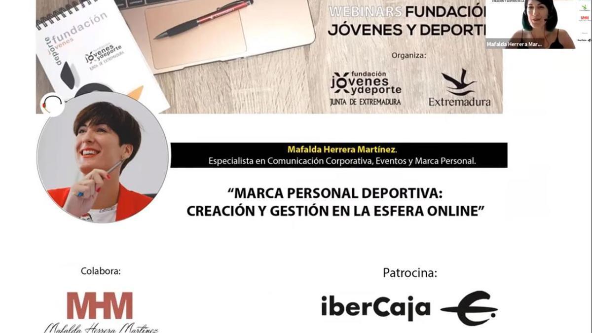Mafalda Herrera en el último webinar impartido