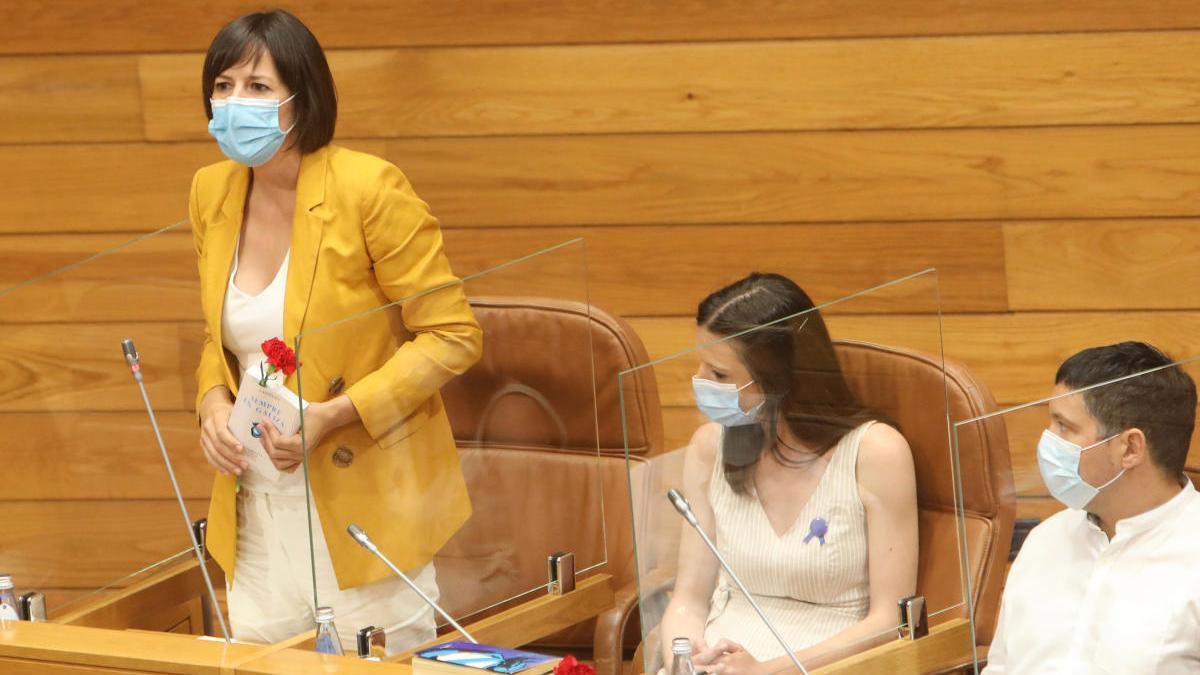 Ana Pontón en el parlamento gallego. // Xoán Álvarez