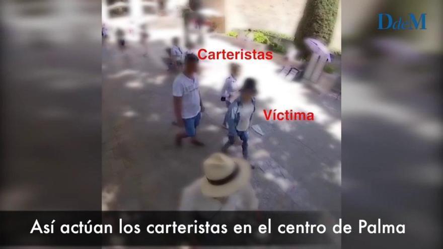 Polizei schnappt in Palma fünf Taschendiebe an einem Tag