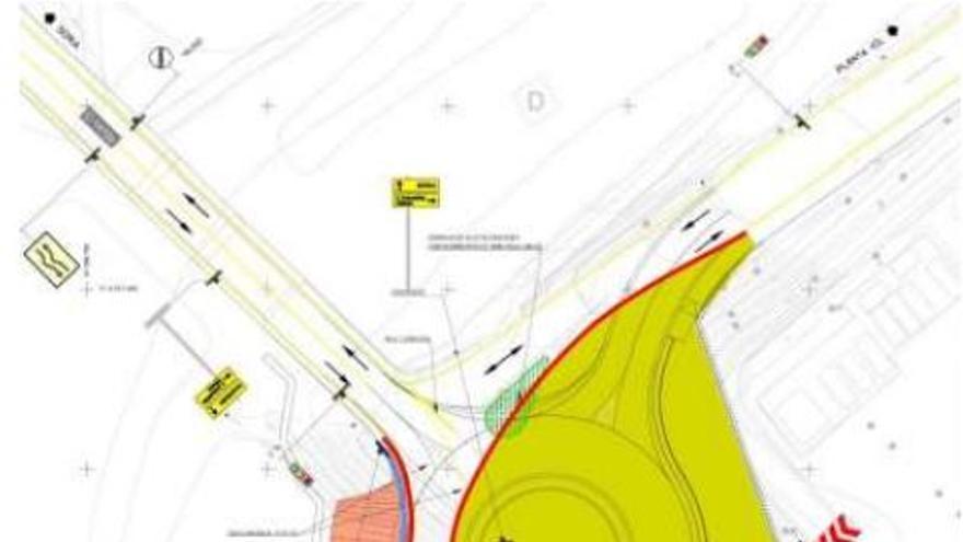 Les obres de la rotonda de l'entrada sud de Súria provocaran afectacions de trànsit a partir de dimarts que ve
