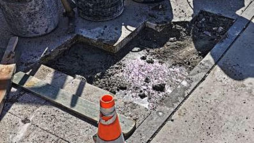 Contigo Silleda reclama el arreglo de las aceras en la Rúa Chousa Nova