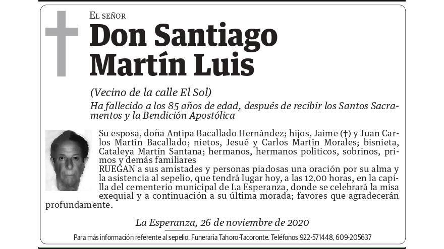 Santiago Martín Luis