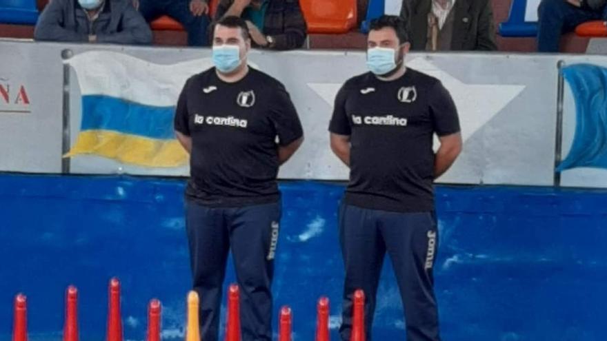 Iván y Abel, de la peña Prau La Hueria, campeones de Asturias por parejas