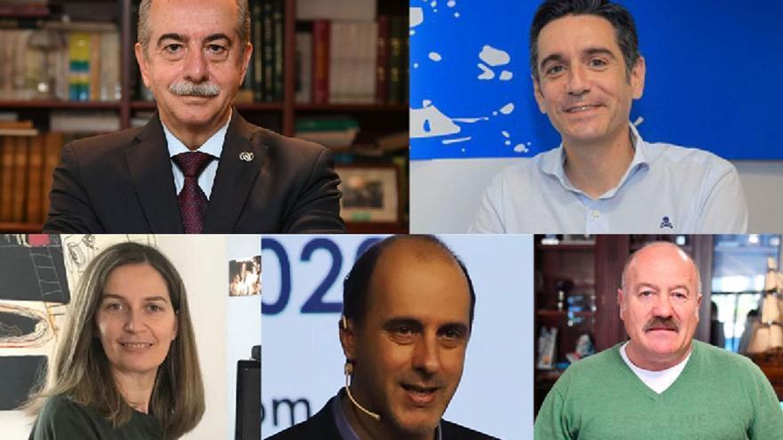 Antonio Couceiro, David Villasuso, Emma Lustres, Carlos Cantó y Eduardo Blanco.