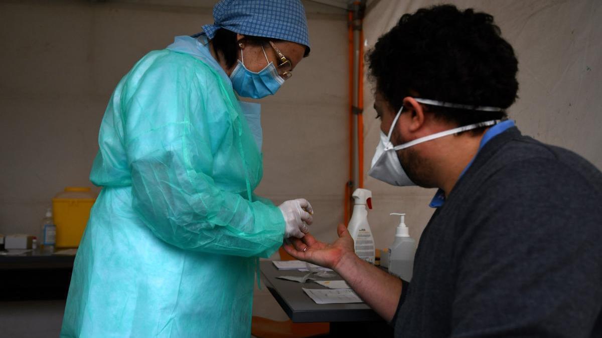 Estudio de seroprevalencia en la carpa instalada en el ambulatorio del Virxe Peregrina