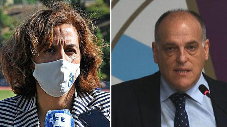 A Coruña pide la dimisión de Lozano, reprueba a Tebas y exige su inhabilitación