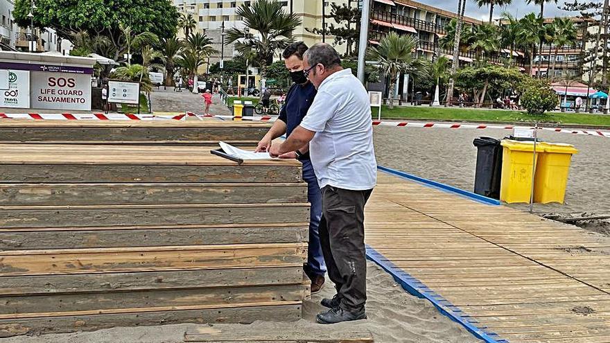 La playa de Los Cristianos contará con una gran zona de sombra esta semana