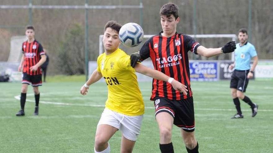 La Escola de Fútbol Lalín juvenil cae por la mínima contra el Choco (0-1)