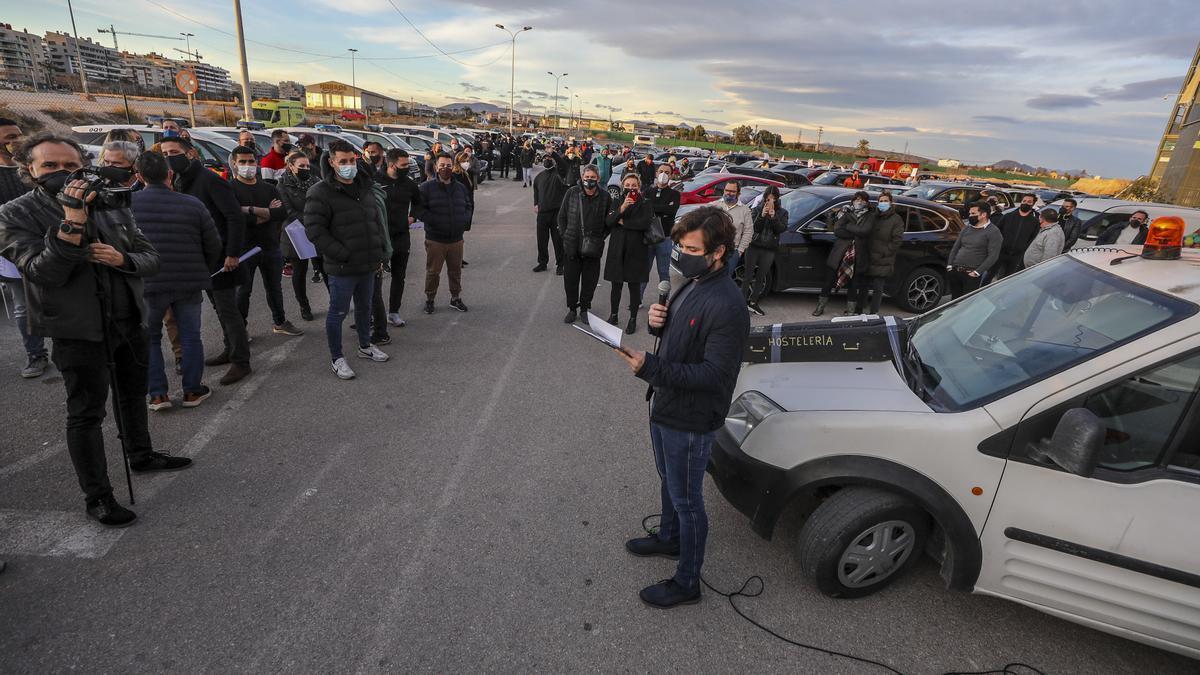Protesta reciente de la hostelería ilicitana