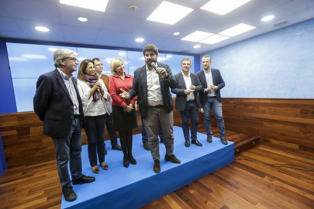 Así fue la noche electoral en la sede del PP