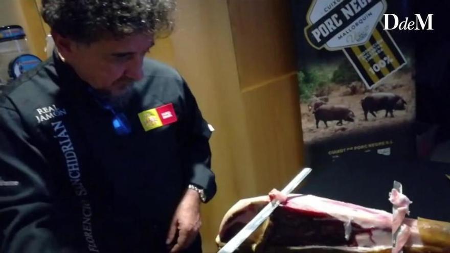 Gustosament: Florencio Sanchidrián, El millor tallador de pernil curat