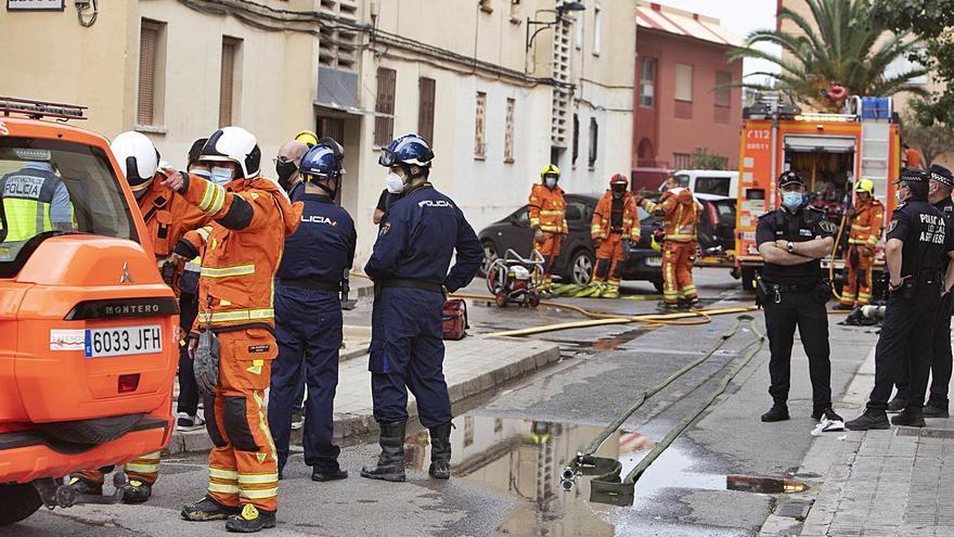 La Policía descarta que el incendio de Algemesí tuviera un origen eléctrico