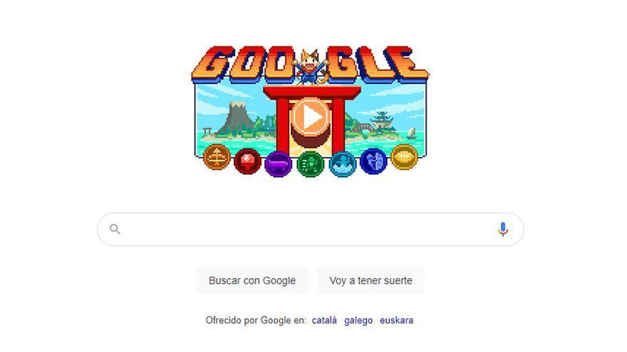 Los Juegos Olímpicos de Tokio 2020, en el doodle de Google