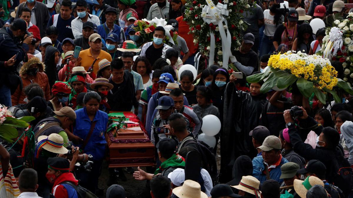 El entierro de Sandra Liliana Peña.