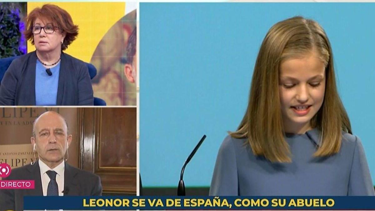 The label about Princess Leonor on TVE.