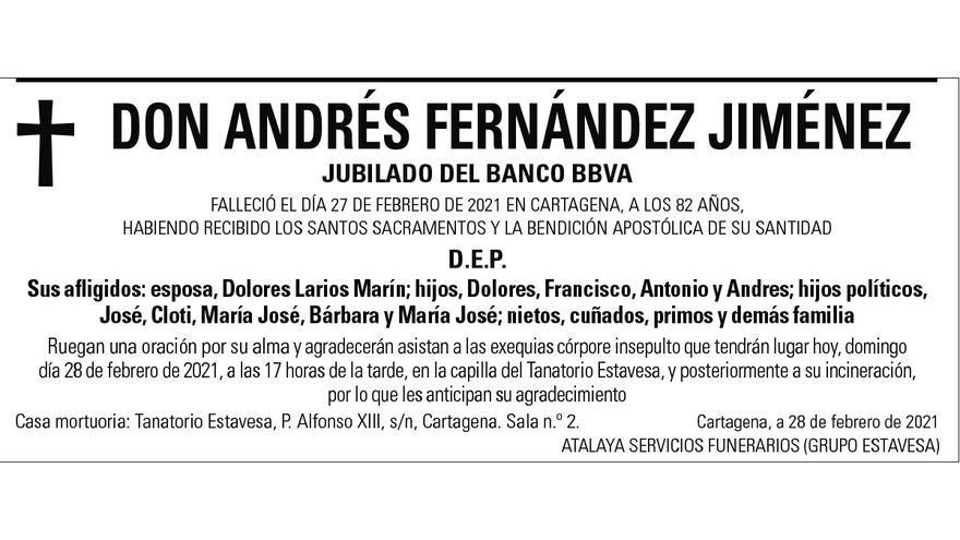 D. Andrés Fernández Jiménez