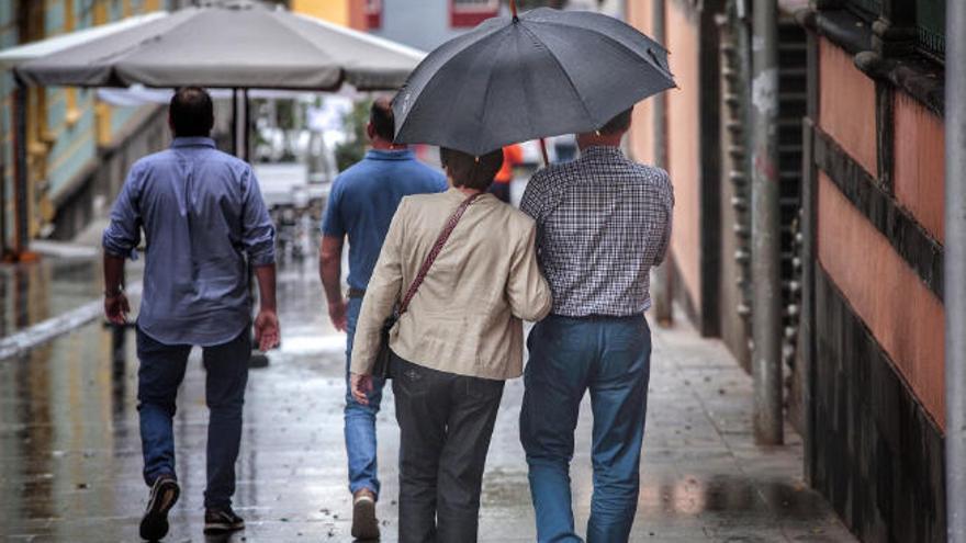 El Roque de los Muchachos concentra las mayores lluvias de la borrasca