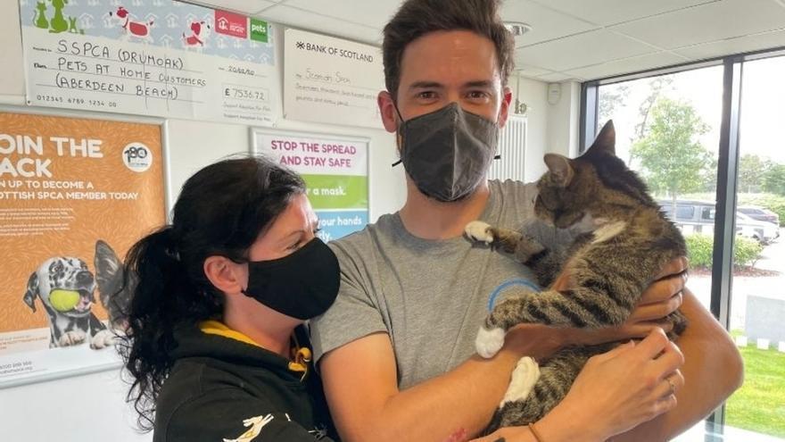 Un gato que desapareció hace 10 años se reencuentra con su familia