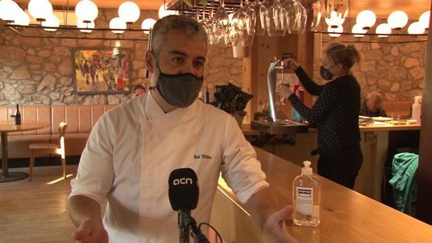 Bars i restaurants de pobles petits reobren amb incertesa