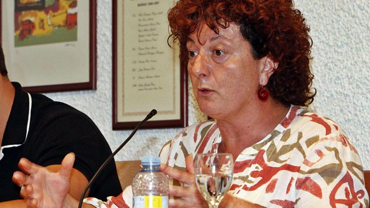 Pilar Mundet, en el seu darrer ple com a regidora de Tossa l'any 2012.