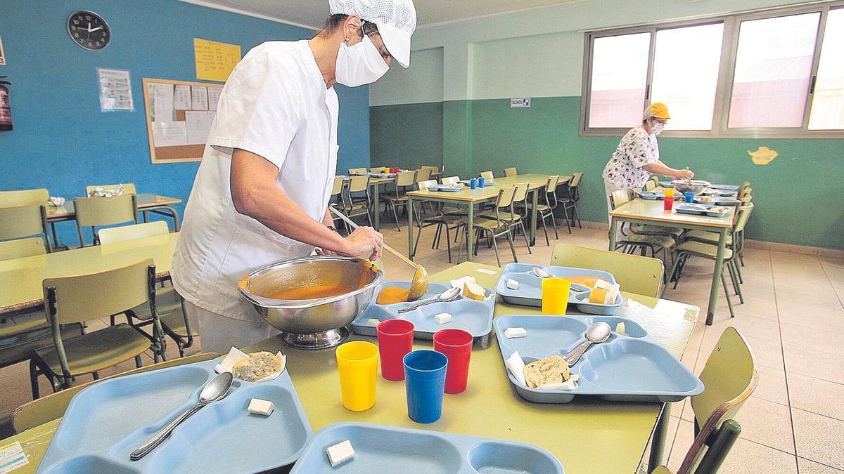 El comedor escolar del CEO Bethencourt y Molina de Santa Cruz de Tenerife.