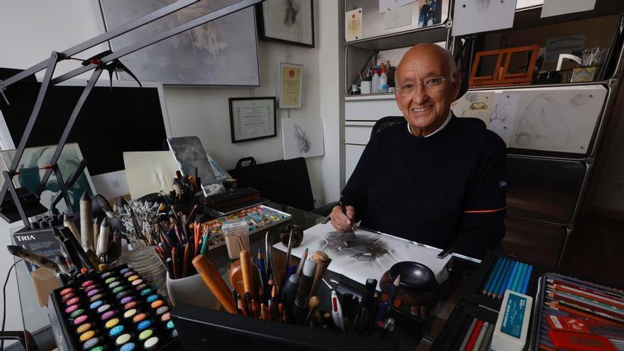 """El creativo encierro del arquitecto José Antonio Menéndez Hevia: """"Del covid también se aprende, es cuestión de actitud"""""""