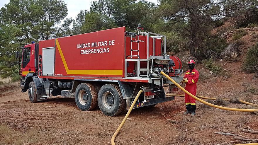 La pluja facilita als bombers el control de l'incendi de l'Anoia i la Conca de Barberà