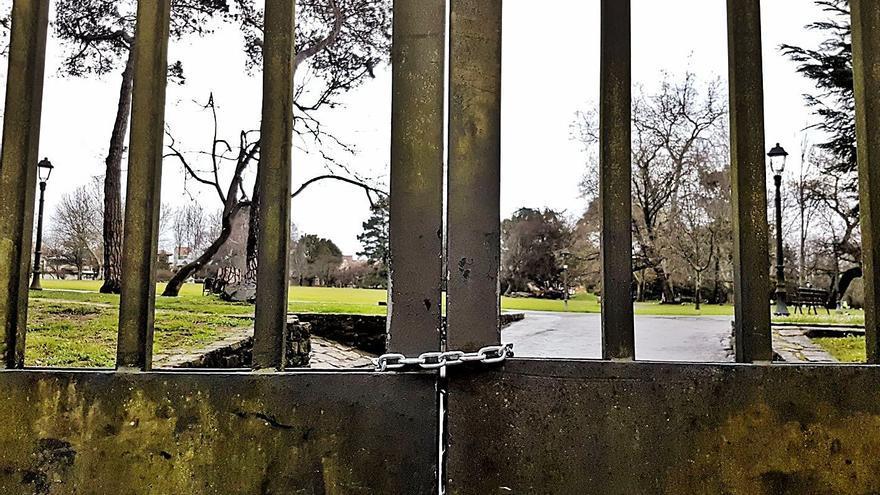 La caída de un árbol obliga a cerrar el parque de Ferrera