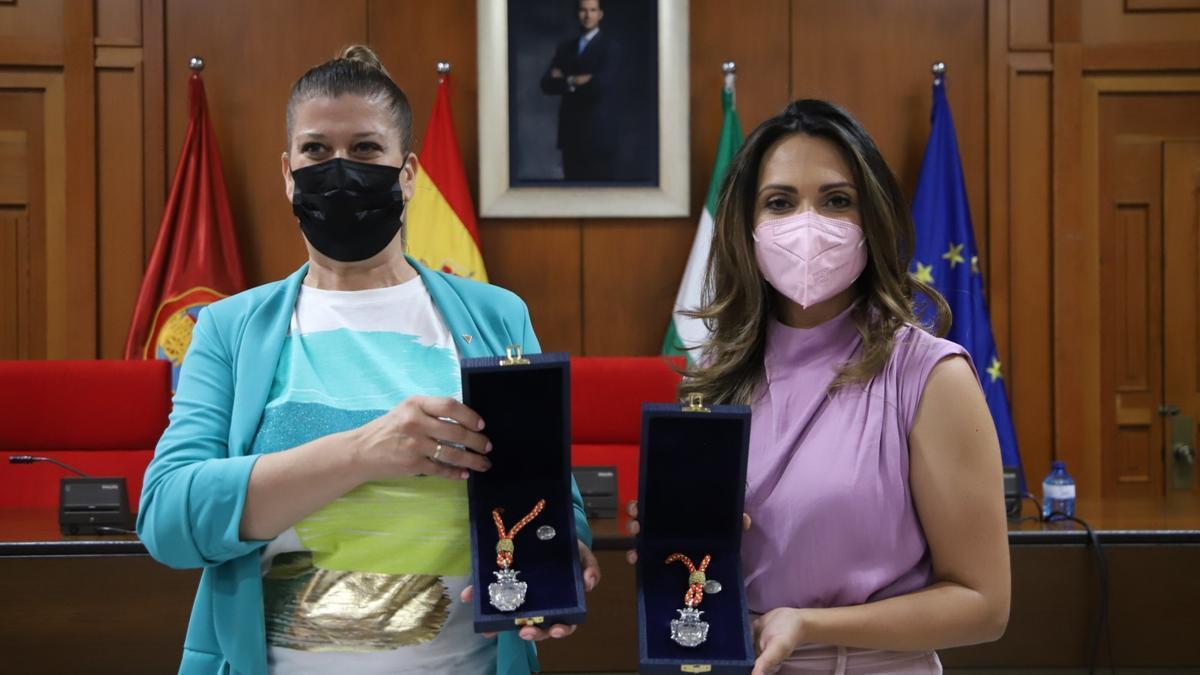 Mercedes Muñoz y Carmen González, las dos nuevas concejalas.