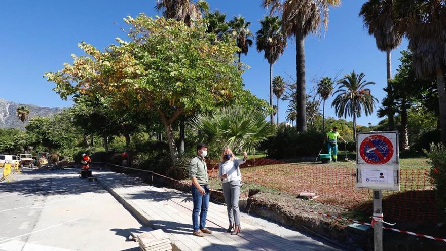 Mejoran el vallado de un parque de Marbella tras unas protestas por ruidos
