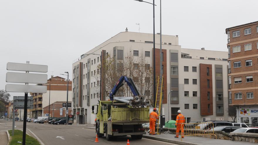 Zamora renueva parte de su alumbrado público en San Ramón y San José Obrero