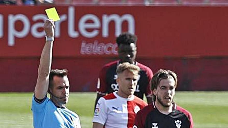 El Girona sempre ha guanyat amb l'àrbitre que xiularà a Oviedo