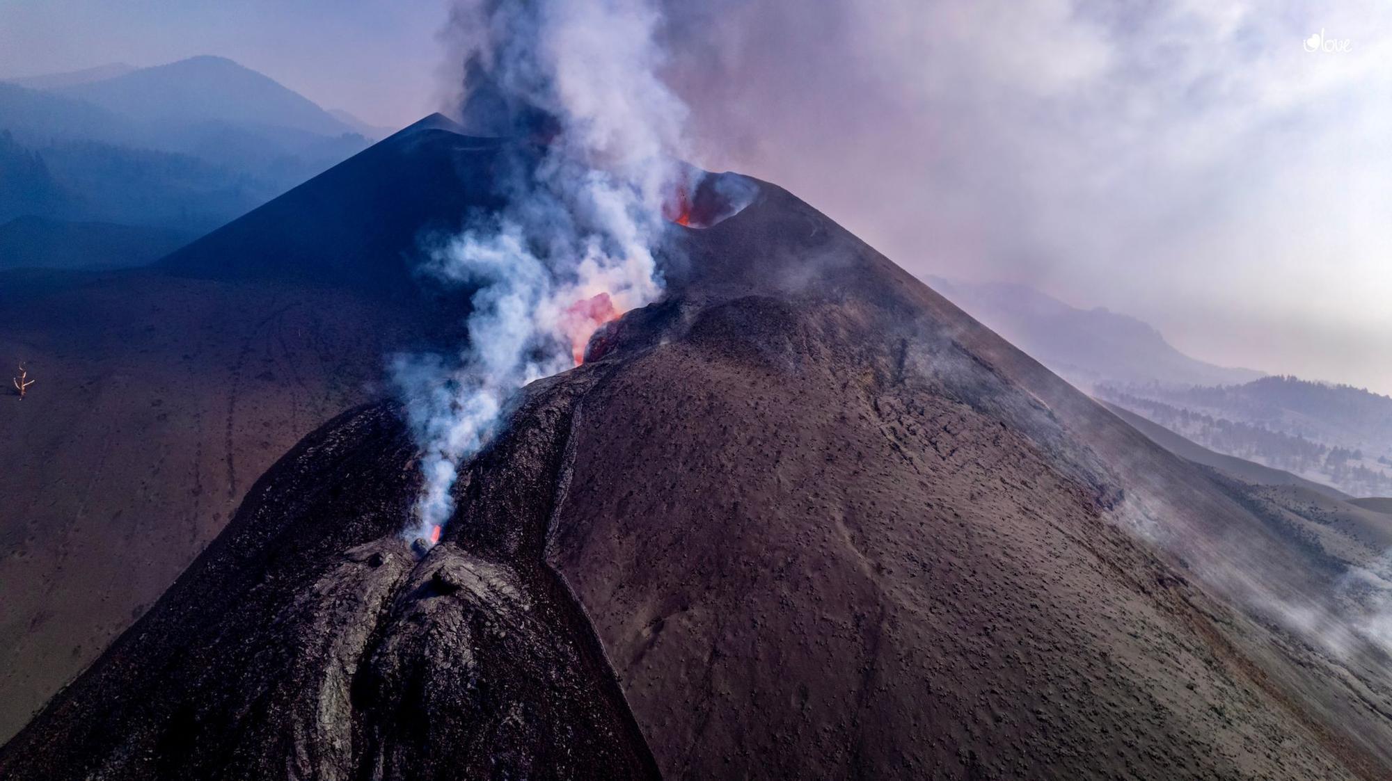 Se abre una nueva boca al sureste del cono volcánico de La Palma