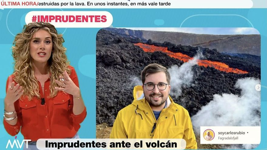 'Más vale tarde' tacha de imprudente por el volcán de La Palma a un chico que estaba en Islandia
