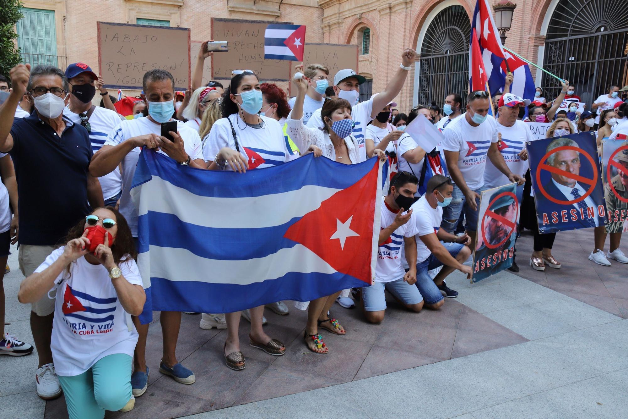 Manifestación de cubanos en Murcia