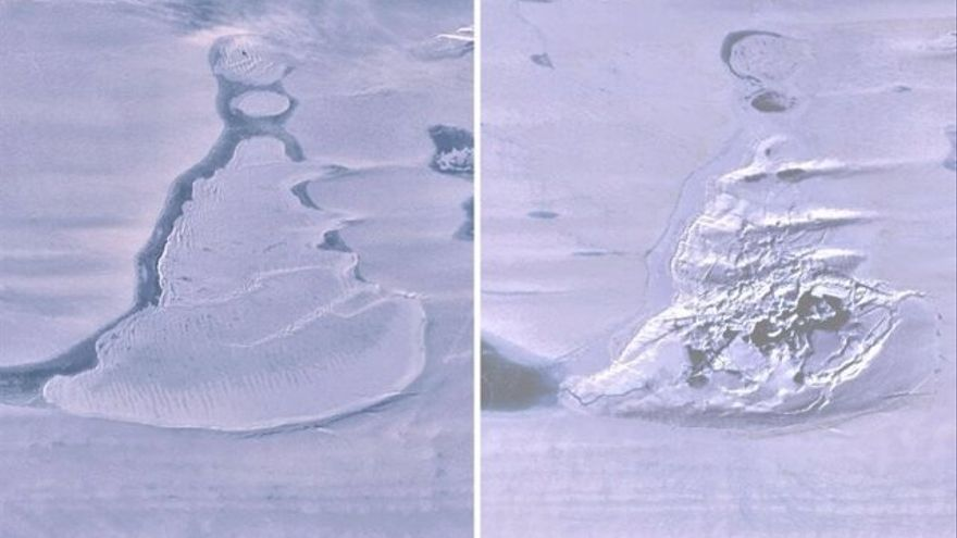 Un lago antártico desaparece repentinamente