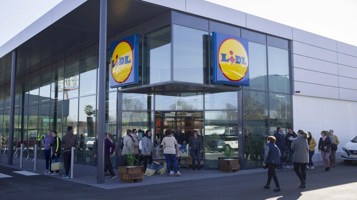 La tienda de Lidl en Xàtiva