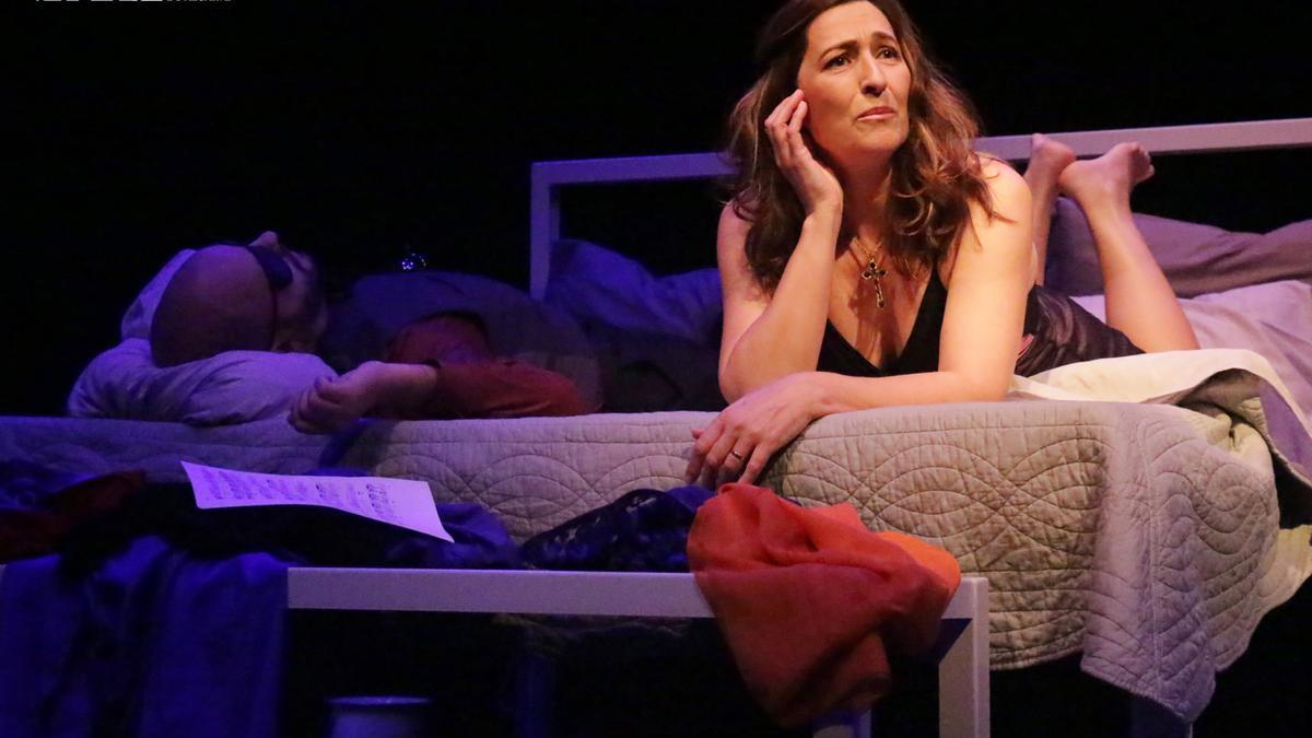 Una escena de 'A noite de Molly Bloom'.