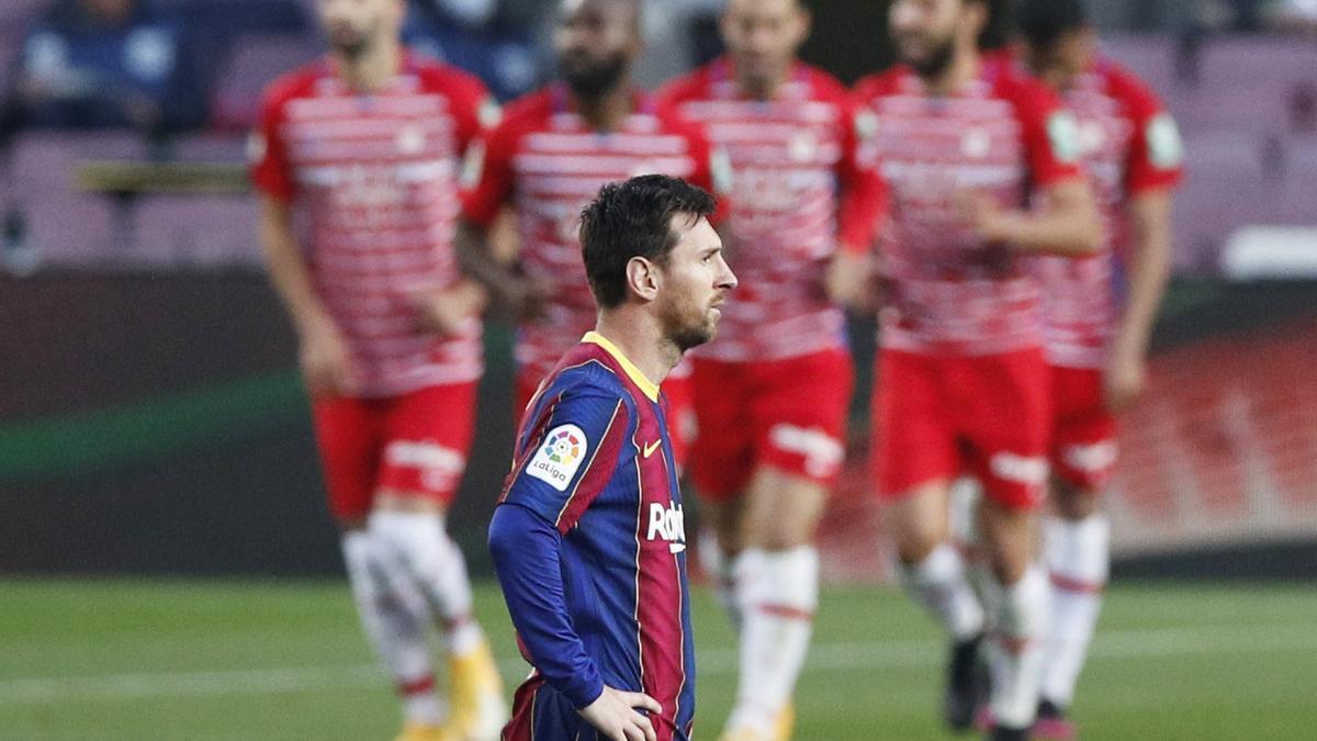 Leo Messi, en el partido ante el Granada
