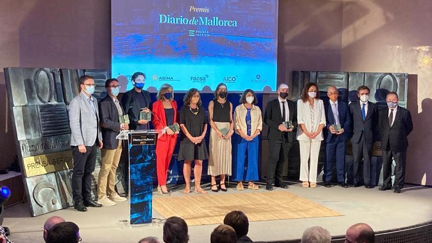 Los galardonados con los Premis Diario de Mallorca 2021.