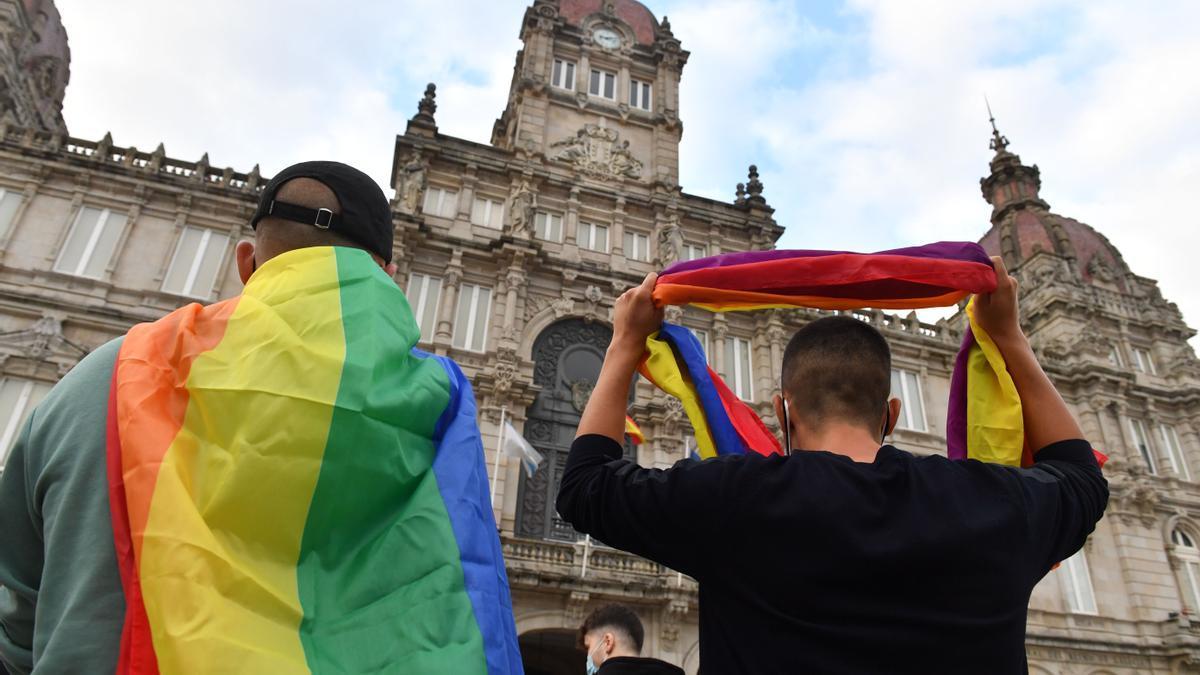 Manifestación en repulsa del asesinato de Samuel Luiz en A Coruña