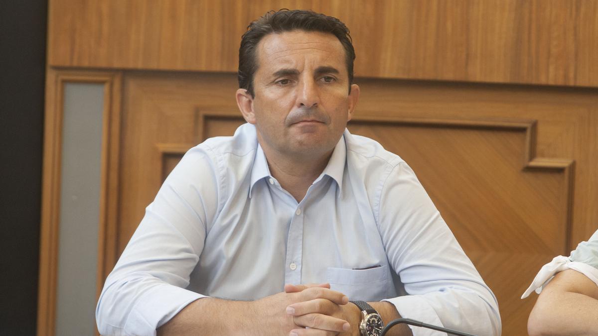 Bernabé Cano en un pleno de la Diputación, en una imagen de archivo.