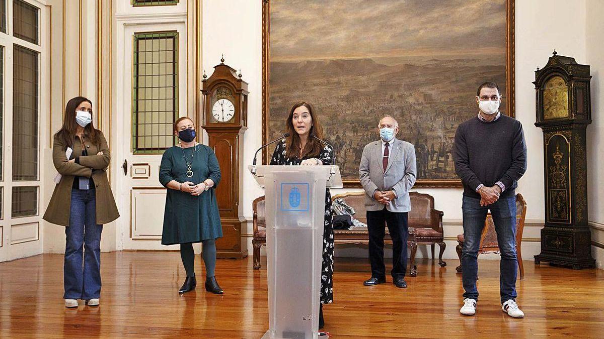 Presentación de la campaña solidaria en el Ayuntamiento.