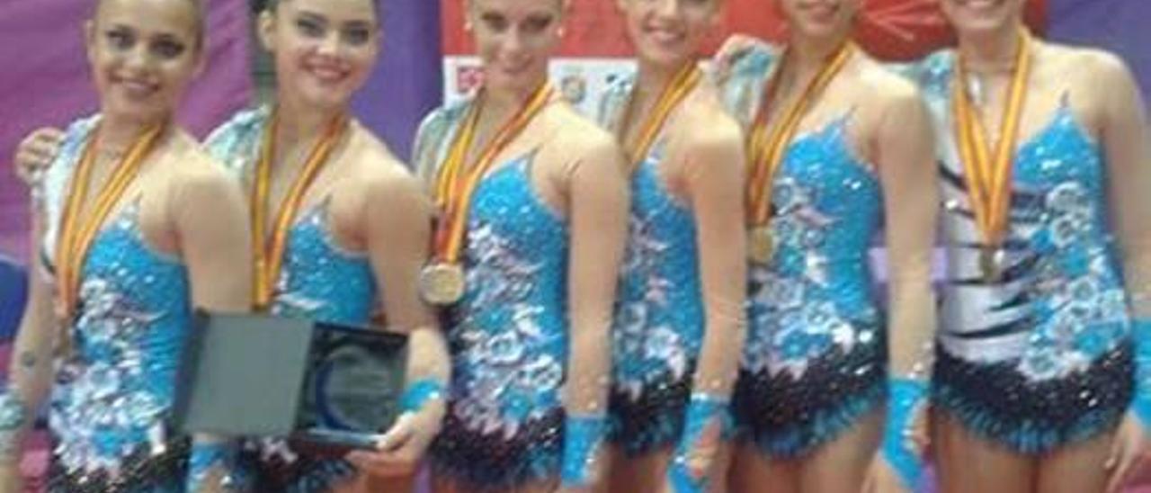 Las gimnastas de Almussafes logran un oro y una plata en el Campeonato de España