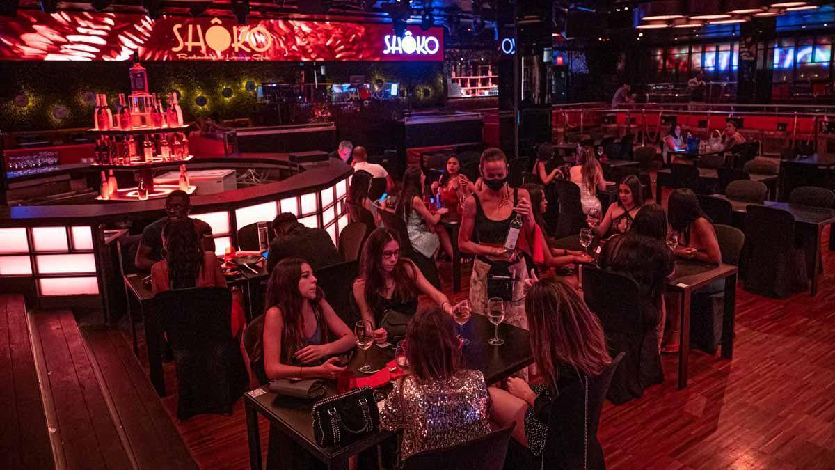 Primera noche de apertura tras la pandemia de la discoteca Shoko de Barcelona.