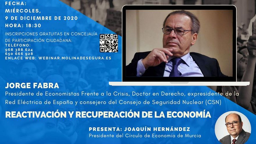 Jorge Fabra participa el próximo miércoles en las II Jornadas online de Molina