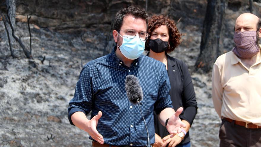 Les prioritats després del foc de l'Anoia: evitar l'erosió i retirar la fusta cremada