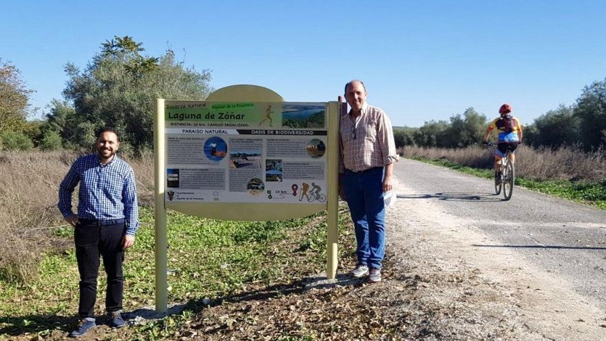 La Vía Verde del Aceite ya cuenta con señalización durante 10 kilómetros del término de Aguilar